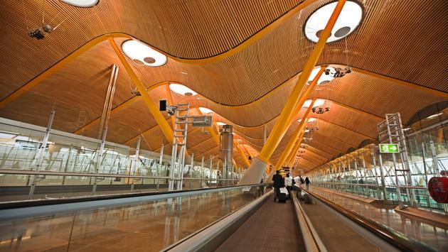 Madrid, airport, spain