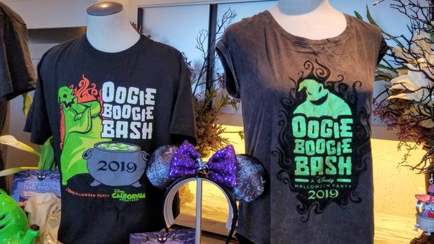 Oogie Boogie Bash exclusive tees and headband