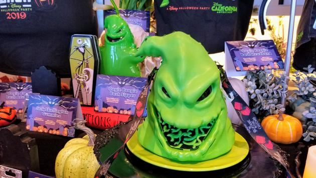 Oogie Boogie Bash exclusive collectible popcorn bucket and sipper