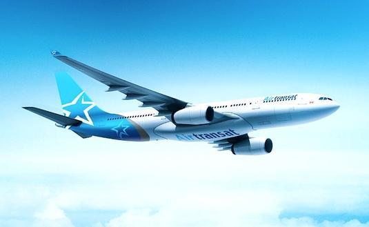 Un avion d'Air Transat