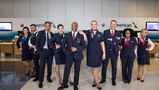 American Airlines' new uniforms.