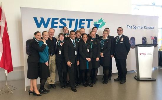WestJet 787 London launch