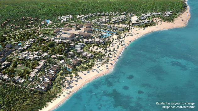 Club Med Miches Playa Esmeralda aerial rendering