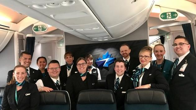WestJet Calgary to London 787 Crew