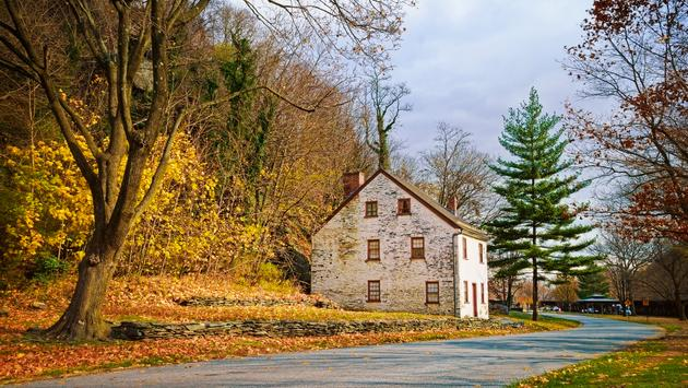 Autumn colors in Harpers Ferry, West Virginia