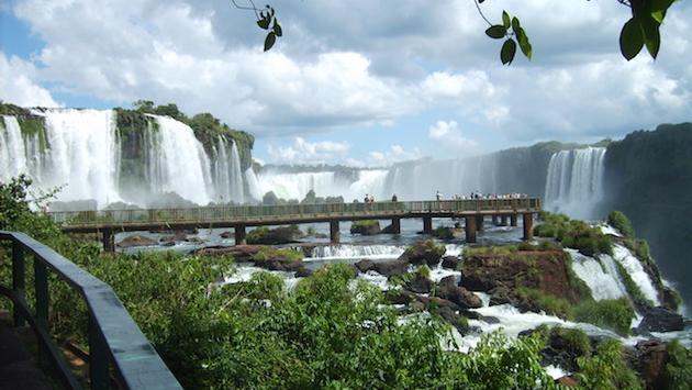 Iguazu Falls, on the border of Brazil and Argentina