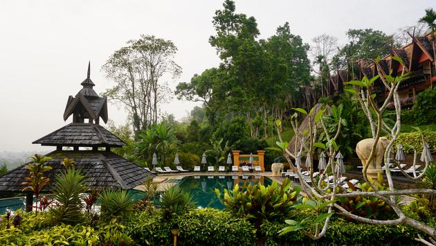 A view of the pool at Anantara Golden Triangle in Chiang Rai, Thailand.