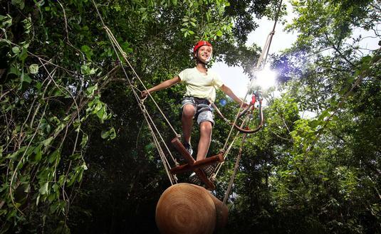 Experiencias Xcaret, Xavage, ropes course