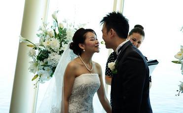 A cruise ship wedding