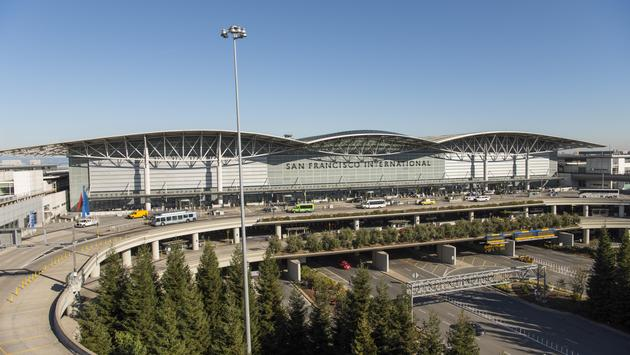 The international terminal at San Francisco International Airport