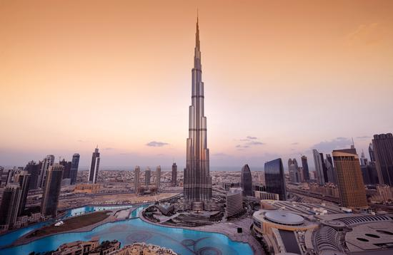 The Burj Khalifa in Dubai