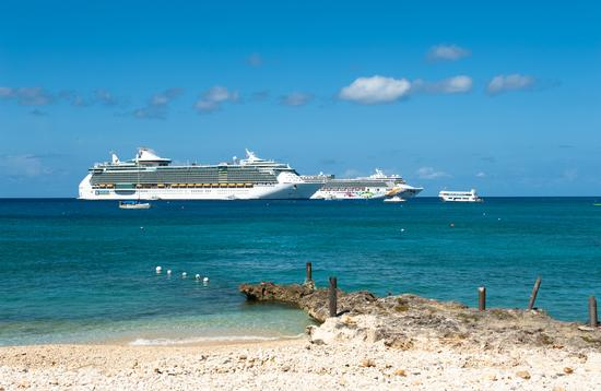 Cruise ships off of George Town, Cayman Islands