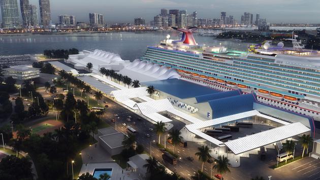 Rendering of Terminal F at Port Miami.