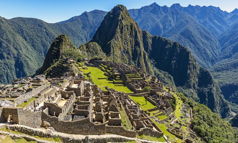 Ruins at Machu Picchu, Peru