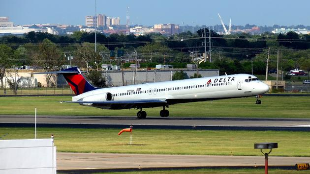 A Delta flight takes off from OKC