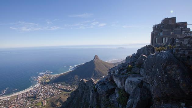 South Africa Cape Town Table Mountain Shoreline Vista