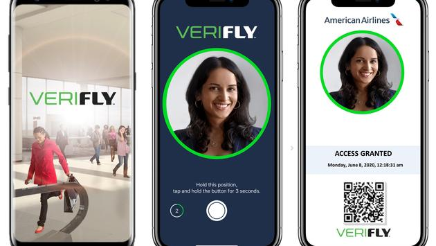 American Airlines' VeriFLY app.