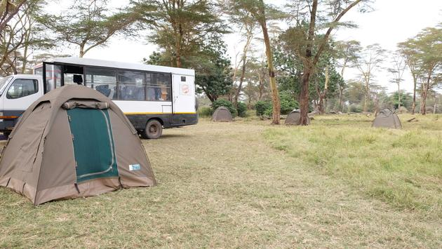 Kimani Sanctuary campsite with Intrepid
