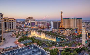 Aerial view of the Las Vegas Strip