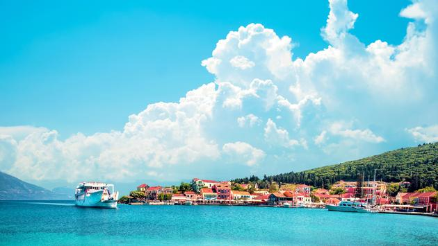 Scenic landscape of Nydri, Lefkada, Greece