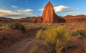 temple of the sun, capitol reef, national park, Utah