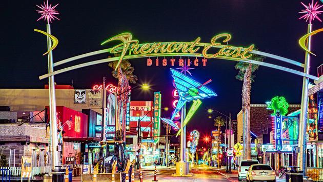 Fremont East Entertainment District in Las Vegas