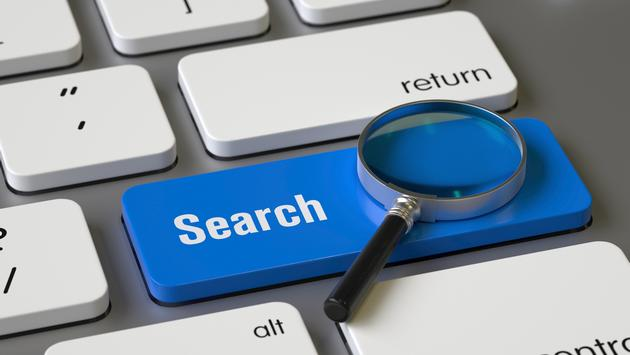Search key on the keyboard.