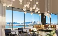 Artist's impression of Radisson Blu Resort Lake Tekapo's lobby.