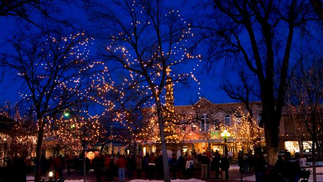 Christmas in Santa Fe, New Mexico