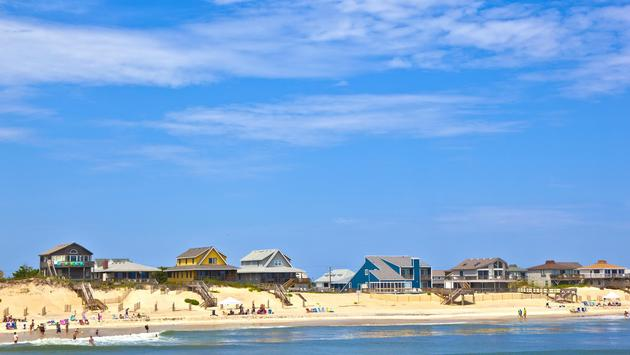 Beach cottages in Nags Head, Outer Banks, North Carolina