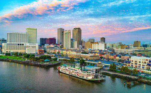 Aerial view of Downtown New Orleans, Louisiana