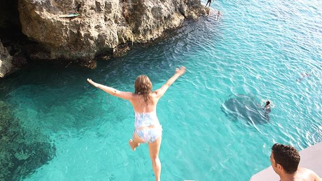 Cliff Diving in Negril, Jamaica