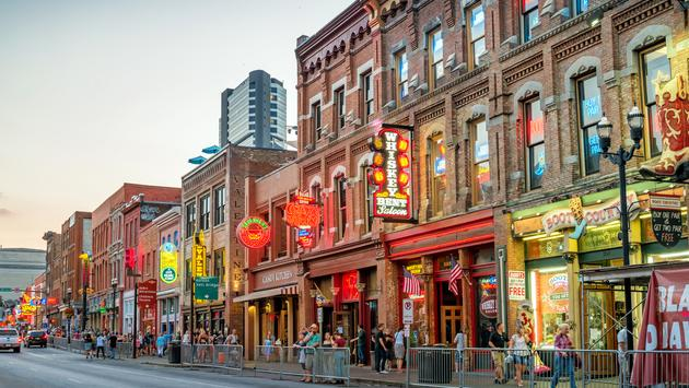 Broadway in Downtown Nashville, Tennessee