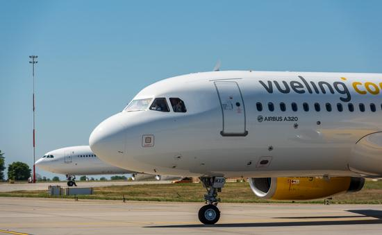 Vueling Airlines plane on the tarmac