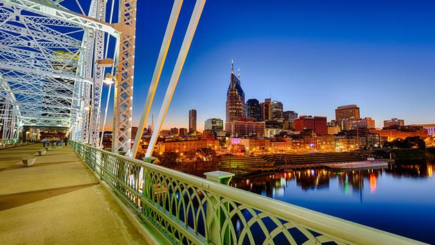 Downtown Nashville, Tennessee skyline