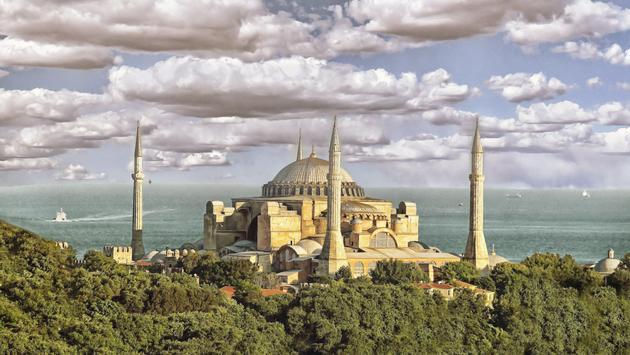 Hagia Sophia (Ayasofya Mosque); Istanbul, Turkey