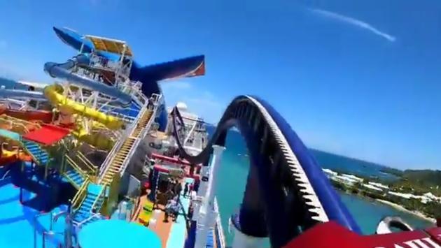 BOLT roller coaster on Carnival Cruise Line's Mardi Gras.