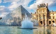 The Louvre Pyramid in Paris