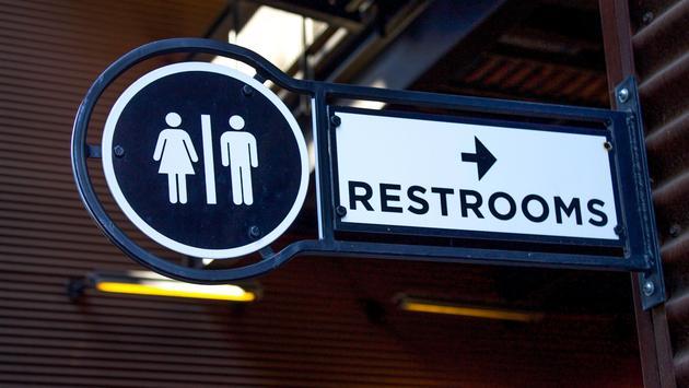 Restroom Sign Close Up
