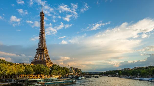 Eiffel Tower and Seine river