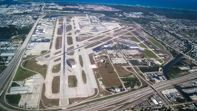 Aerial view of Fort Lauderdale-Hollywood International Airport