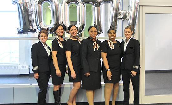 100th Sunwing All-Female Crew