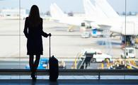 Female business traveler