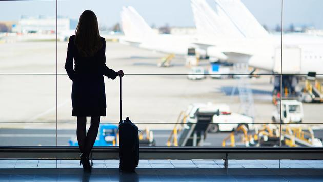 Female business traveler