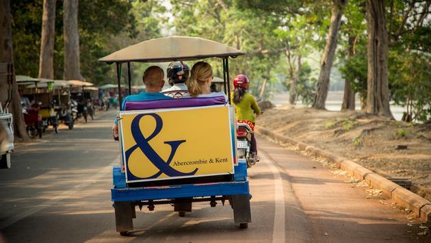 Cambodia, tuk-tuk, couple, travel, asia