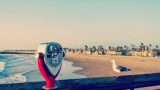 Binoculars on the Newport Beach Pier, California
