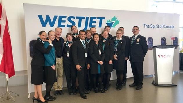 Premier vol Dreamliner WestJet