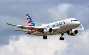 American Airlines Airbus A319 over Miami