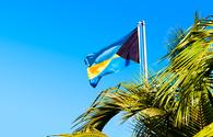 National flag of The Bahamas.