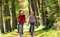 Explore the area on a romantic bicycle ride for two.
